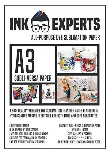 Ink Experts Subli-Versa Allzweck-Sublimationspapier, A3, 115 g/m² 100 Sheets