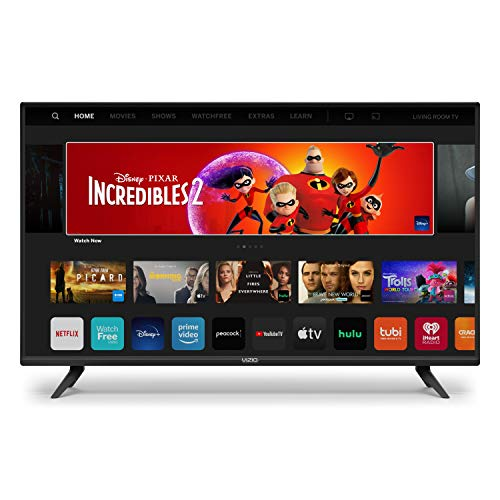 VIZIO 24-Inch D-Series LED HDTV  with Apple AirPlay and Chromecast Built in Screen Mirroring for Second Screens, & 150+ Free Streaming Channels (D24h-G9)