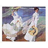 CiCiDi Joaquin Sorolla Women Walking on Beach Fine Art Jigsaw Puzzle 1000 Pieces for Adults, Entertainment DIY Toys for Creative Gift Home Decor