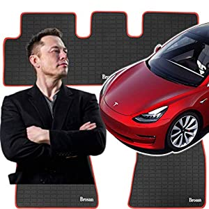 Nonslip Heavy Duty Rubber Mat for Tesla