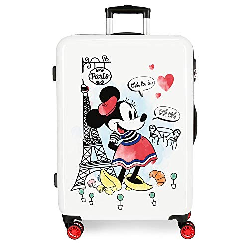 Valigia media rigida 68cm Minnie Around the World Paris Rosso