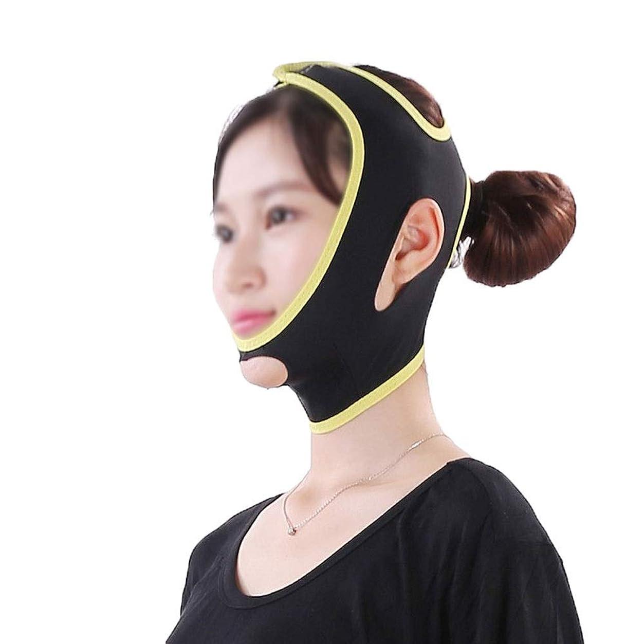 バンケットオーナー観客フェイス&ネックリフト、フェイスリフトマスク強力なフェイスマスクフェイスリフトアーチファクトフェイスリフティングフェイスリフティングツールフェイスリフティング包帯シンフェイスマスク美容マスク(サイズ:L)