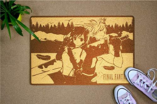 StarlingShop Final Fantasy - Felpudo para puerta con diseño de fantasía, ideal para decoración al aire libre, regalo de cumpleaños