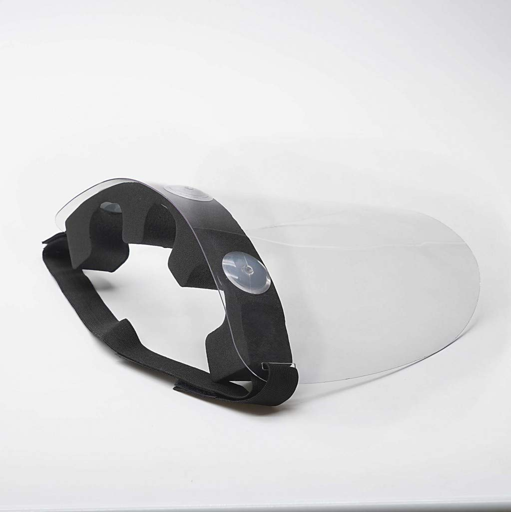 Pantalla protección Facial Transparente | Pantalla Protectora Cara | Visera Protectora con Agarre de Velcro Trasero | Pantalla con Montaje incluído |Fabricado en España | Pack x 5 uds.: Amazon.es: Hogar