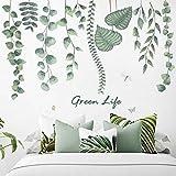 Esmee Plantas tropicales Pegatinas de Pared Vinilo Decorativo con para salón, Oficina, baño, Cocina, Dormitorio, decoración del hogar