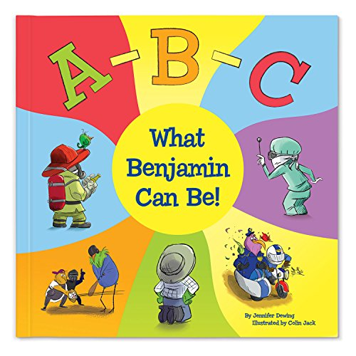 ABC Alphabet Letters Educational Book for Boys Girls Kids, Personalized (Softcover)