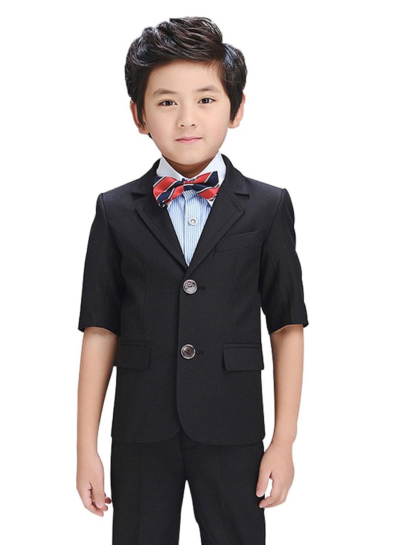 HIMOE 男の子 スーツ フォーマルスーツ 子供スーツ 長袖 セット 3色 結婚式 発表会 卒業式 入学式 七五三 演出 冠婚葬祭 (160サイズ, ブルー)