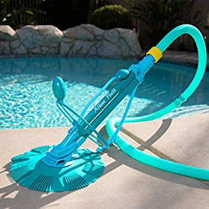 10 hoses included for up to 30' pool. Ideal for cleaning bottom surface and wall; does not clean stairs Require at least a 1 hp swimming pool pump or 1600 GHP to function properly. No tools required and no electricity needed; Attaches to your existin...