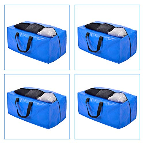 Heavy Duty Extra Large Storage Bags with Zippers, XL Moving Bags Totes for College Moving,Cloth Storage Bags for Clothing Storage, Comforter, Blankets, Compatible with IKEA Frakta Cart, 4 Packs