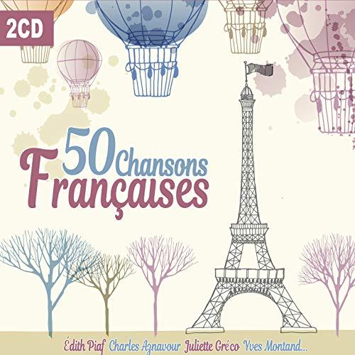 50 Chansons Françaises, La Vie en Rose, Les Feuilles Mortes, Douce France, Classic French Songs [2CD]