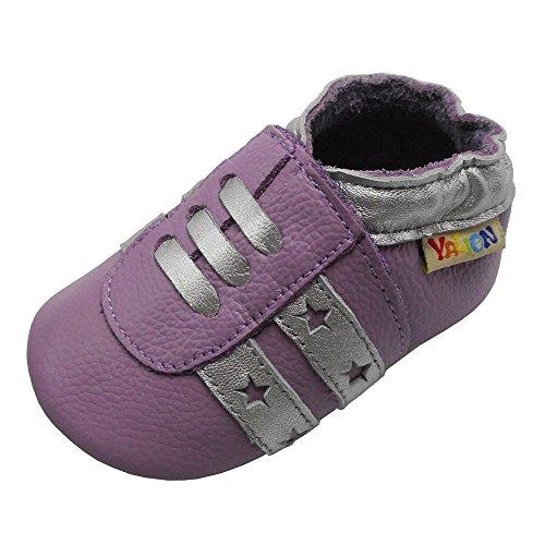 Yalion , Chaussures souple pour bébé (garçon) - Violet - lilas, 18-24 Monate