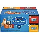 Puppy Chow Purina (8) Cans Healthy Start Nutrition 4-Real Chicken,4-Real Beef .Total 8-5.5 OZ Cans