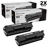 LD Compatible Toner Cartridge Replacement for Canon 104 0263B001AA (Black, 2-Pack)