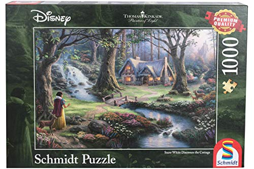 Schmidt spel puzzel 59485 Thomas Kinkade, Disney sneeuwwitje, 1.000 delen puzzel