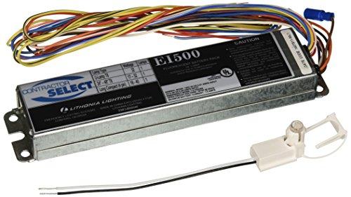 Lithonia Lighting EI500 M12 Contractor Select 500 Lumen Emergency Ballast for Fluorescent Fixtures, Black