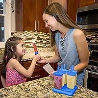 HelpCuisine® Stampi ghiaccioli - Stampi per gelati realizzati in plastica di alta qualità priva di BPA e approvata dalla FDA, ideale per la preparazione di ghiaccioli, gelati, sorbetti,(Blu) #7