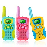 Kids Walkie Talkies 3 KMs Long Range 2 Way Radio 22 Channels for Kid Toys Gifts with Backlit LCD Flashlight...