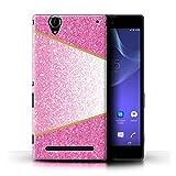 Hülle Für Sony Xperia T2 Ultra Glitter Muster Effekt Rosa