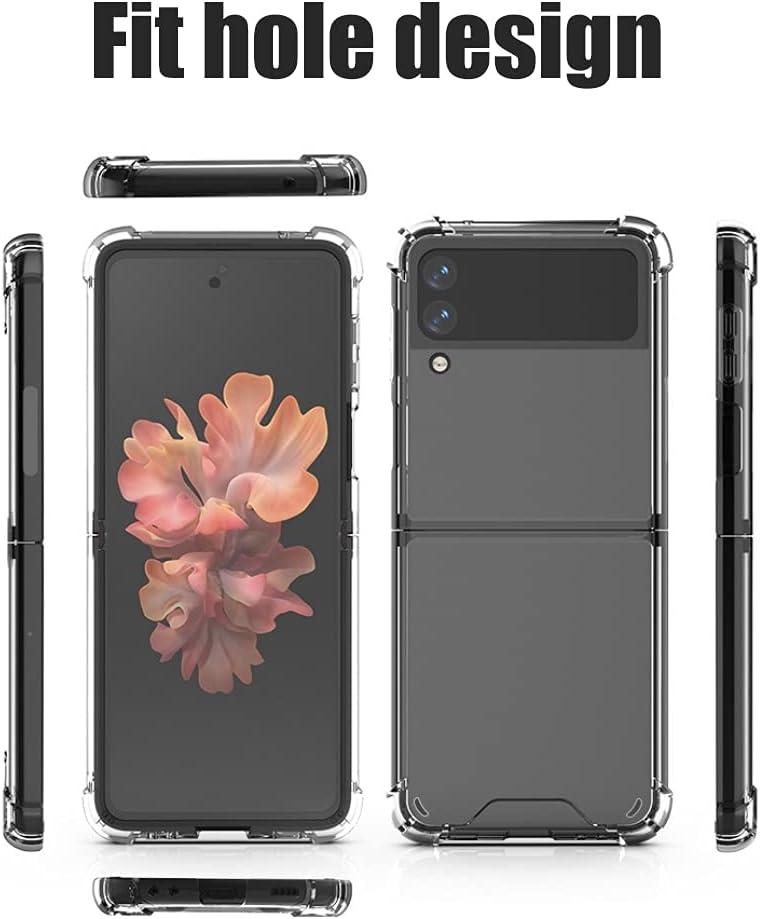 Designed for Galaxy Z Flip 3 5G Case (2021), Slim Lightweight Anti-Drop Wear-Resistant Strong Impact Resistance Transparent Hard PC Cover Case for Samsung Z Flip 3