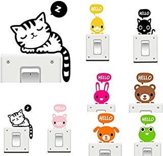 Wall Art - Vinyl Removable Funny Cat Switch Stickers Black Art Decal Home Decor - Cute Girl Room Decor Wall Stickers Teen Boys Girls Animal Bedroom Switch - For - 1PCs
