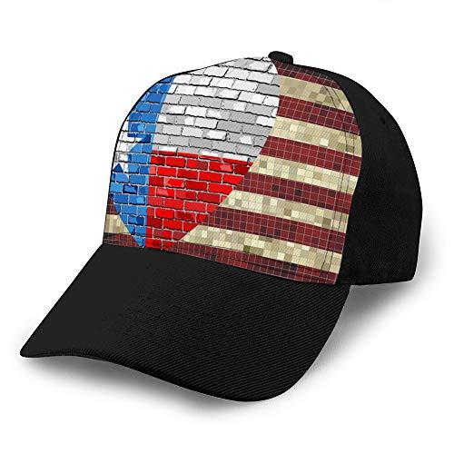 dsgdfhfgjghcdvdf 0 Gorras de béisbol cómodas Banderas de Estados Unidos y Texas...