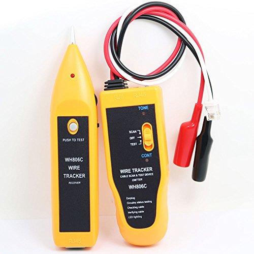 NUZAMAS Netzwerk-Tester, in der Hand gehaltener Kabelanzeiger mit Kopfhörer, hohe Empfindlichkeit Telefonkabel-Tester Drahtsucher, Telefonleitungstest, Durchgangsprüfung, LAN, Ethernet, RJ45 RJ11