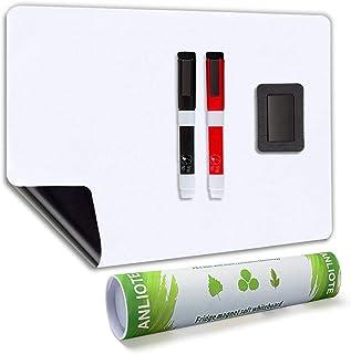 Tableau Blanc Magnétique A3+ pour Frigo-AntiTaches,Tableau Mémo Aimanté pour Planning Semaine Cuisine et Notes de Bureau,T...