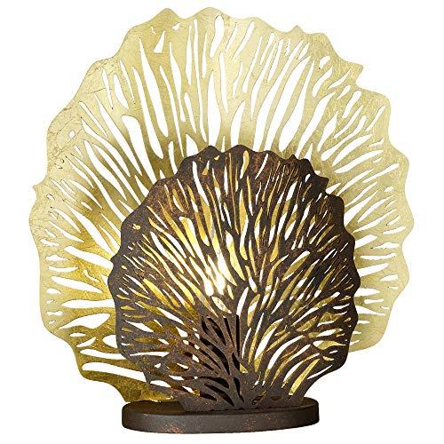 Lampe de table feuille GOLD salon éclairage corail lampe de lecture rouille Honsel 50127