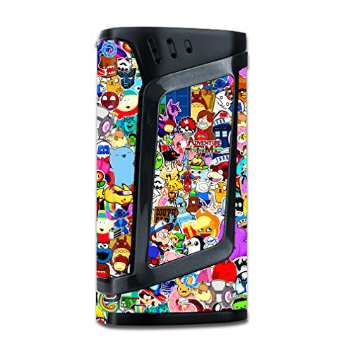 Skin Decal Vinyl Wrap for Smok Alien 220w TC Vape Mod stickers skins cover/ Sticker collage,sticker pack