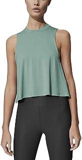 Mippo Women's Crop Tops High Neck Flowy Muscle Tank Sleeveless Workout Shirts