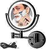 NHLBD LIHAIHAI Beautiful Fashion Miroir de Maquillage Mural avec grossissement 10x, Maquillage de Maquillage à Double Face de Maquillage de Maquillage éclairé dans la Chambre à Coucher