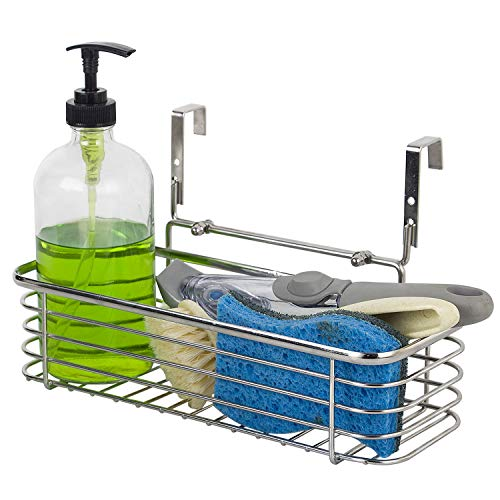 Over Cabinet Bathroom Storage Organizer - Hang Over Cabinet Doors - Holds Shampoo, Conditioner, Body Wash - glass cleaner, surface cleaners, bleach, sponges, brushes and scrubber pads