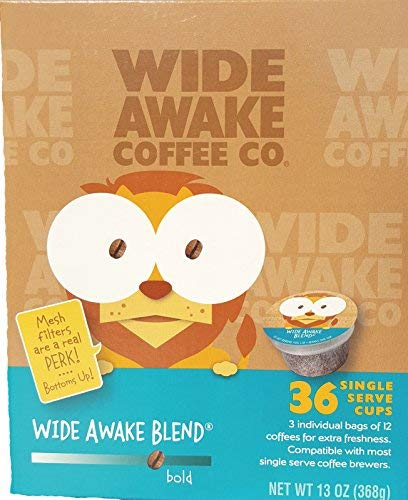 Wide Awake Gorgeous Coffee Blend Single 36 Serve Easy-to-use Count Cups