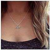 Olbye Lotus Flower Necklace Choker Gold Lotus Pendant...