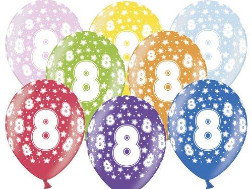 Luftballon 8.Geburtstag bunt gemischt Partydeko
