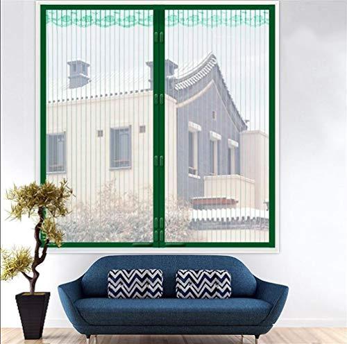 Fliegengitter Kinder Gardinen Protektor Invisible irgendeine Größe for Bay Und Bogen Windows-Cottage Windows-Beige Fenster Fliegengitter Magnetic Self-Adhesive Mesh-Fenster Gardinen Grün Braun