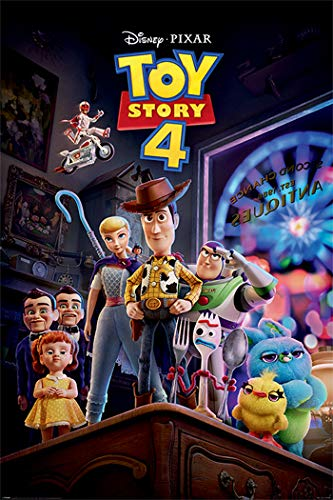 Toy Story 4 - Disney/Pixar Movie Poster (Antique Shop Anarchy) (Size: 24 inches x 36 inches)