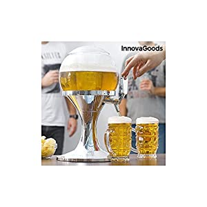 InnovaGoods Ball Dispensador de Cerveza Refrigerante, PMMA, Plateado, 24x24x42 cm