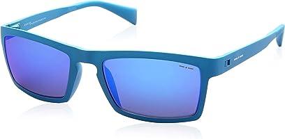 نظارة شمس بعدسات مستطيلة ازرق عاكسة للنساء من ايطاليا انديبندنت - ازرق تيل