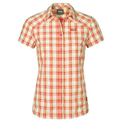 Jack Wolfskin Damen Rock Chill Flex Shirt Größe L Watercress Blossom Checks