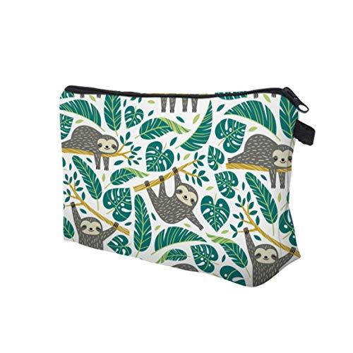 MOHAN88 Bolsa de Aseo con Cremallera para Mujer Bolsa de cosméticos Ligera para Viajes Bolsa de Aseo con impresión Digital de Gran Capacidad - 51476