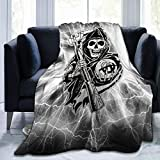 Sons of Pretty Anarchy Ultra-Soft Breathable Flannel Throw Blanket,60'' x50