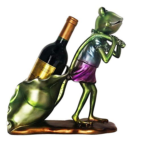 CAIJINJIN estante del vino Ornamentos del estante del vino del refrigerador de vino de la rana ornamentos Bar del hotel Sala de estar Decoración adornos 28cm * 32cm * 12cm decoraciones caseras Almacen