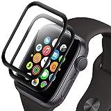 RIIMUHIR Verre Trempé pour Apple Watch Series 1/2/3 42mm, [2 Pièces] Protection Écran pour Apple Watch Series 1/2/3 42mm, Film Protecteur, Couverture Complète, Dureté 9H, HD Clarté