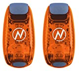 LED Safety Light (2 Pack) - Clip On Strobe/Running Lights for Runners, Dog, Bike, Walking, Boat, Kayak, Stroller and More - High Visibility Accessories for Your Reflective Gear, Bicycle, Orange