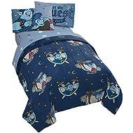 Disney Onward Night & Day 4 Piece Twin Bed Set - Includes Reversible Comforter & Sheet Set - Bedding Features Ian & Barley Lightfoot - Super Soft Microfiber - (Official Disney Pixar Prod