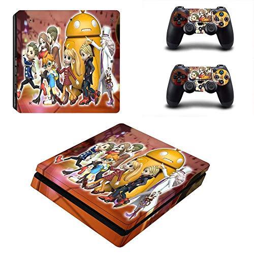 WANGPENG Destiny Connect PS4 Slim Skin Aufkleber für Playstation 4 Konsole und 2 Controller PS4 Slim Sticker Vinyl