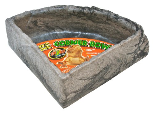 Zoo Med KB-40 Reptile Rock Corner Water Dish Large