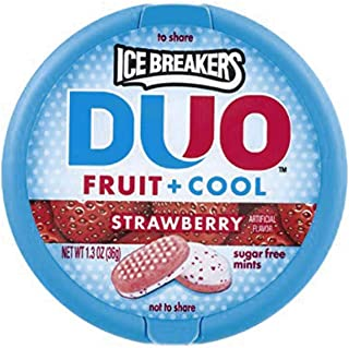 Ice Breakers DUO Fruit & Cool Sugar Free Mints, Strawberry 8 ea