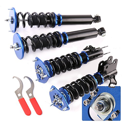 AJP Distributors For 240Sx Silvia S14 Fully Adjustable Lowering Spring Coilover System Suspension Upgrade Blue